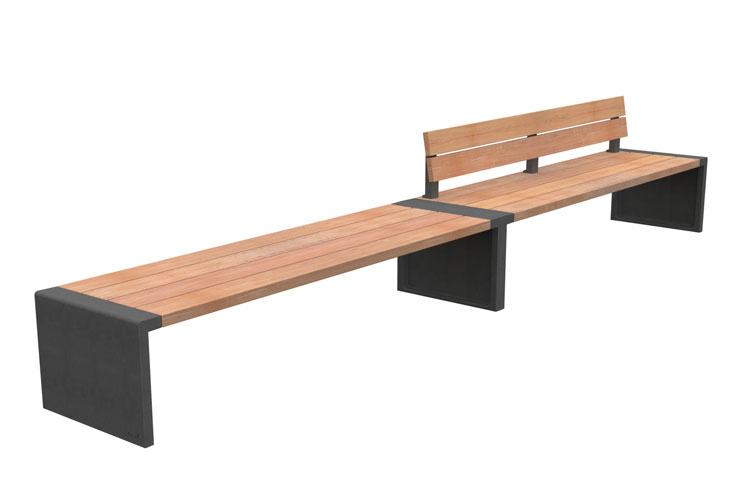 Line 500 R2, streetfurniture bench, straatmeubiliar bank