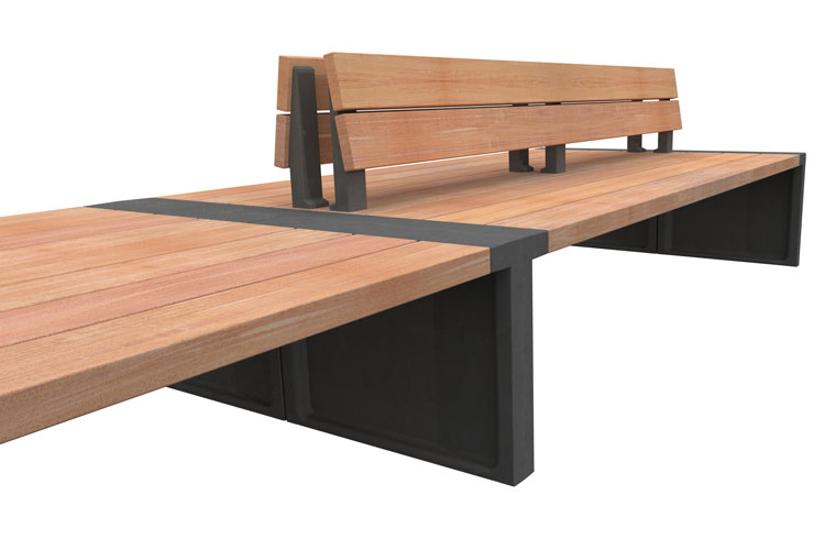 Line 500 R2D, streetfurniture bench, straatmeubiliar bank
